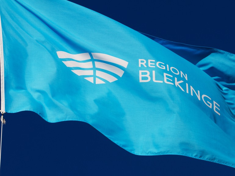 Region Blekinges flagga